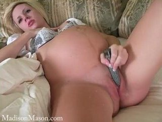 Porno Video of Madison Mason Pregnant Dildo Squirt