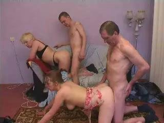 Porno Video of Mature And Young Couple Group Sex