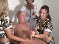 Military HJ - 2 Army Teens 1 Nurse & Old Man