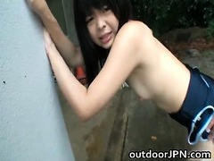Anri Nonaka Asian hot babe in outdoor