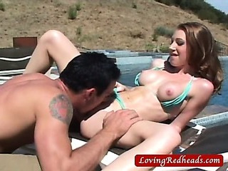Sex Movie of Redhead Milf Fucking By The Pool