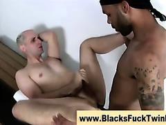Watch interracial twink get a facial