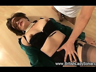 Porno Video of Mature Stockings Slut Sucks Hard Cock