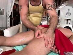 Hunky guy gets anus rimmed 1 By GotRub