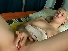 Sexy analhole plug and red socks on babe
