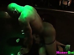 Partying amateurs love male stripper