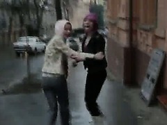 two polish pornstar on the street