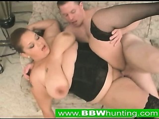 Porno Video of Stockinged Bbw Titty Fucks