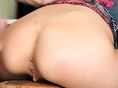 Romantic date and exclusive anal sex