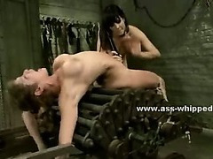 Lesbian beautifull black doctor with amazing large boobs and nipples forces redhead patient to fuck