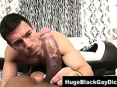 Interracial loving muscley gay