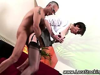 Porno Video of Mature Stocking Brit Oral And Fuck