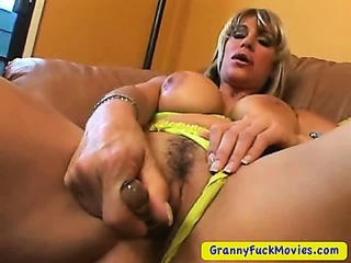 Porno Video of My Hot And Horny Grandma Masturbating