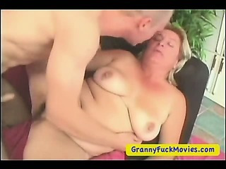 Porn Tube of Fat Granny Pumping Her Pussy