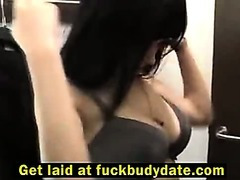 German girl fucked in public changing room