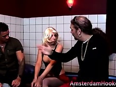 Hungry real dutch blonde sucks
