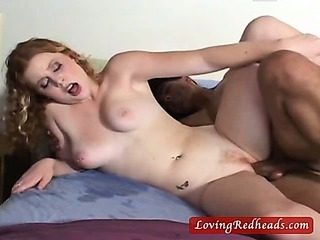 Sex Movie of Hot Curly Redhead Gets A Good Hard Fuck