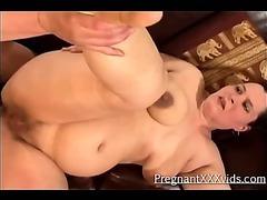 Pregnant Chick Intense Fucking