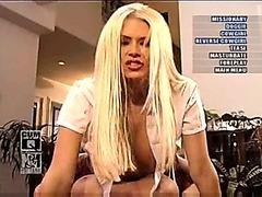 Jenna Jameson rides a dildo
