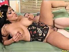 Big titty brunette babe hardcore