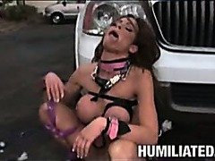 Hot milf tied up for sex till she squirts