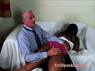 Sex Movie of Grandpa Spanking Teen Girl