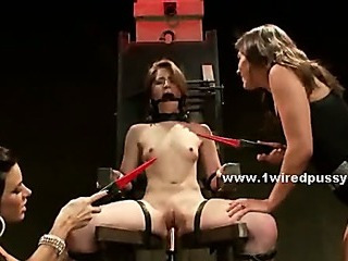 Porno Video of Pervert Lezdom Ladies Torture Whore Tied Tight Fucking Her With Electric Shocks And Strapon