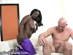 A Black Babysitter Gives A Blowjob