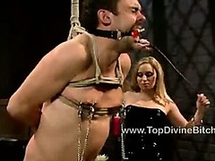 Goddess Aiden Starr trains a slave