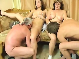 Porn Tube of This Family Fucks Together In A Wild Foursome