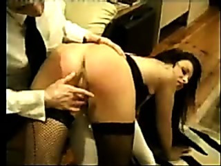 Porn Tube of Girl In Stockings Is Spanked By A Girl