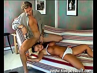 Sex Movie of Hot Sleeping Pussy Takes His Meaty Cock