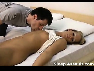 Sex Movie of The Beautiful Sleeping Girl Is Violated