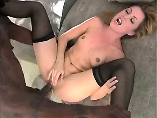 Porno Video of Skinny Blonde Babe Takes Black Cock For The Pleasure