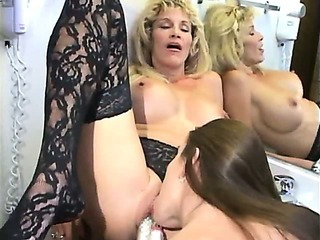 Porno Video of Skinny Little Slut And Milf Have Lesbian Sex