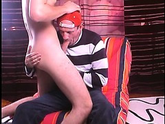 Str8 blond college dude with beautiful bubble butt and big cock fucks my mouth.