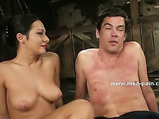 Porno Video of Beautifull Pornstar Mistress Giving A Nasty Time To Man In Dominatinon Sex Video Spanking Him