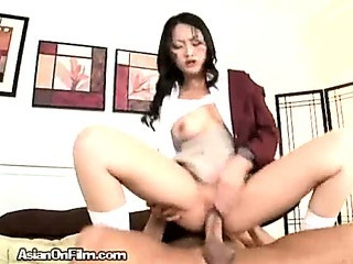 Porn Tube of An Asian College Girl In Action