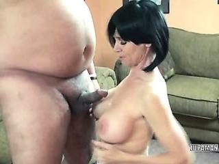 Porno Video of Mature Melissa Sucks Some Lucky Dudes Stiff Cock
