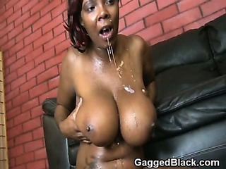 Porno Video of Black Ghetto Slut Force Fed White Cock And Choking