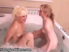Naughty mature blonde loves having sex