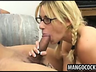 Sex Movie of Cute Blond In Big Dick Threesome