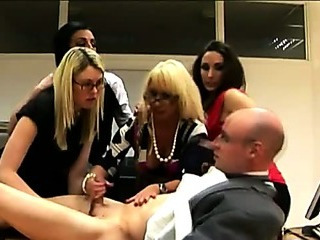 Porn Tube of Nasty Cfnm Office Hotties