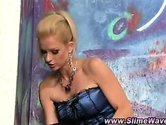Bukkake gloryhole lesbians slime showered