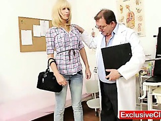 Sex Movie of Blonde Bella Morgan Visit Gynoclinic To Have Her Pussy Gyno Examined