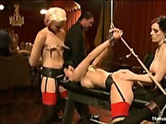 Hot girls fucked at BDSM party