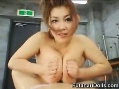 Futanari Coed Gets an Orgasm!