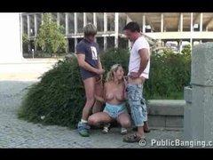 Public sex - street threesome