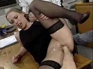 Porn Tube of Gangfisted Secretary