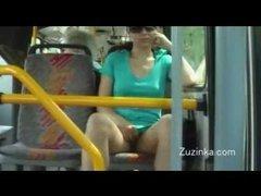 Teen masturbates on public bus
